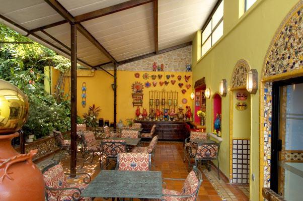 Breakfast On The Patio Of Casa De Las Flores Bed And Hotel In Tlaquepaque